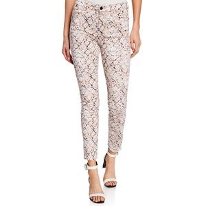 7 FOR ALL MANKIND SNAKE-PRINT ANKLE SKINNY JEANS